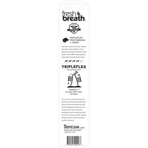 FRESH BREATH by TROPICLEAN Triple Flex Toothbrush for Dogs