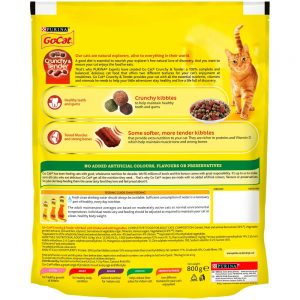 GO-CAT Crunchy & Tender Beef, Chicken & Vegetable, 800g