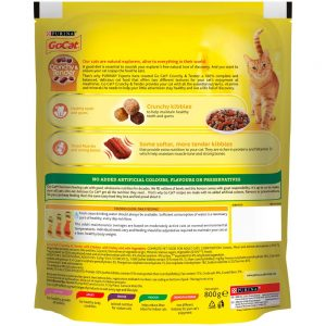 GO-CAT Crunchy & Tender Chicken, Turkey & Vegetable, 800g