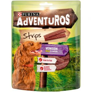 ADVENTUROS Venison Strips, 90g