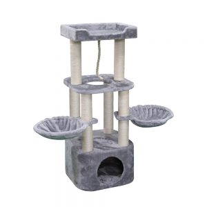 BLUE PAW Large Cat Tree withe Cave & Twin Hammocks