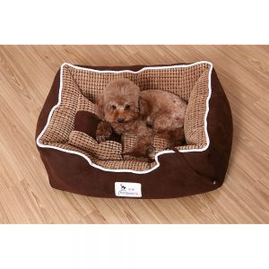 BLUE PAW Box Bed with Cushion