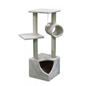 BLUE PAW Large Cat Tree with Corner Entrance Cave