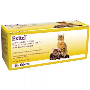 EXITEL Cat Worming Tablet, Single