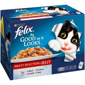 FELIX AGAIL Meaty Selection in Jelly Pouch, 12x100g