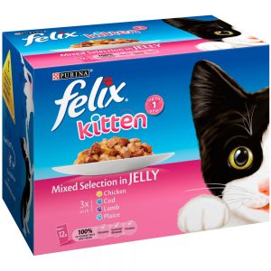 FELIX Kitten Selection in Jelly Pouch, 12x100g
