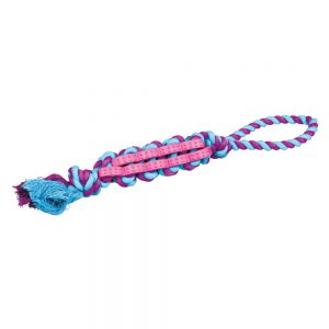 TRIXIE Denta Fun Twisted Stick With Hand Loop, 37cm
