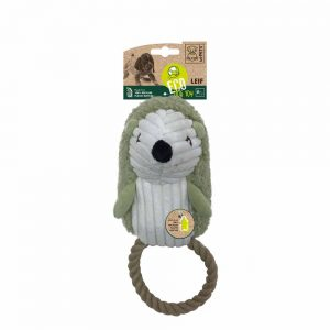 M-PETS Leif Hedgehog Eco Dog Toy, Green/White