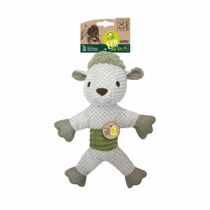 M-PETS Loki Sheep Eco Dog Toy Green/White