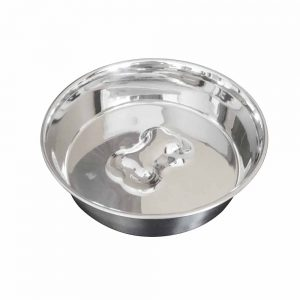 BLUE PAW Slow Feed Heavy Bowl With Raised Bone, 23cm