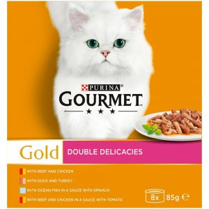 GOURMET Gold Double Delicacies Can Multipack, 8x85g
